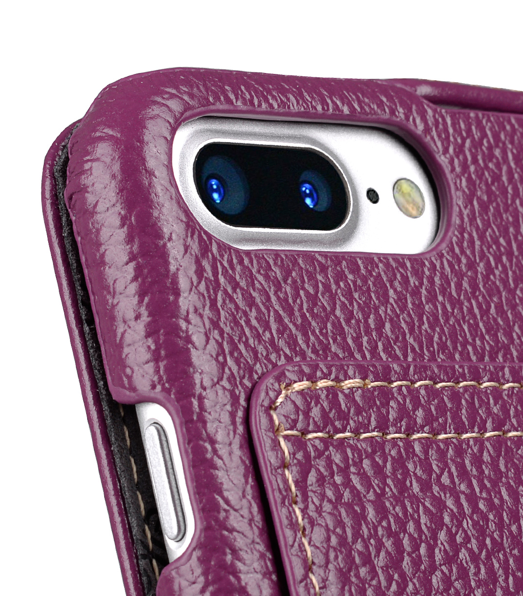 """Melkco Premium Leather Case for Apple iPhone 7 / 8 Plus (5.5"""") - Jacka Stand Type (Purple LC)"""