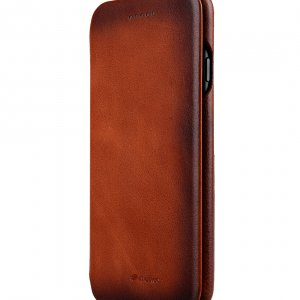 """Melkco Premium Leather Case for Apple iPhone 7 / 8 (4.7"""")- Face Cover Back Slot (Tan)"""