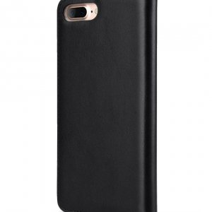 "Melkco Premium Cowhide Leather Herman Series Book Style Case for Apple iPhone 7 / 8 Plus (5.5"") (Black)"