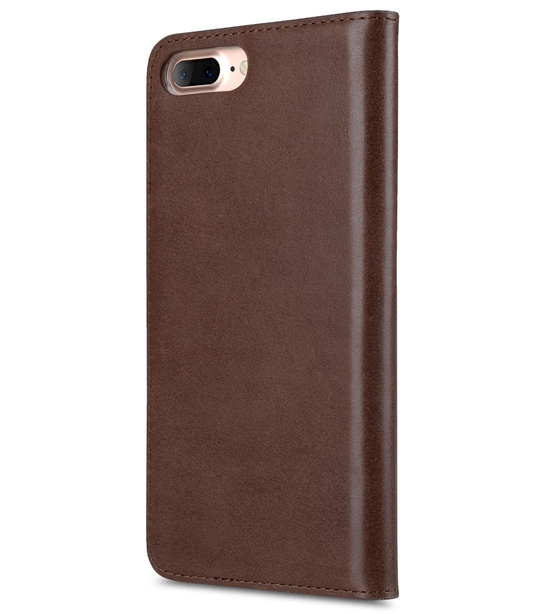 "Melkco Premium Cowhide Leather Herman Series Book Style Case for Apple iPhone 7 / 8 Plus (5.5"") (Brown)"