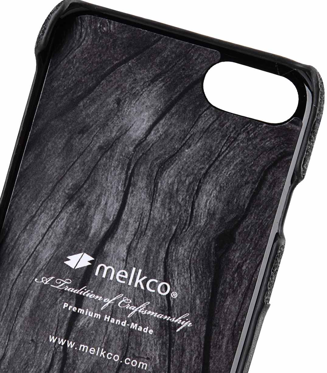 """Melkco Holmes Series Heri Genuine Leather Snap Cover with Card slot Case for Apple iPhone 7/ 8 (4.7"""") - (Black)"""