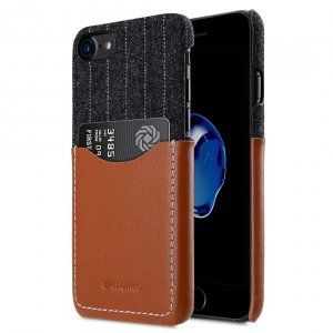 "Holmes Series Heri Genuine Leather Snap Cover with Card slot Case for Apple iPhone 7 / 8 (4.7"")"