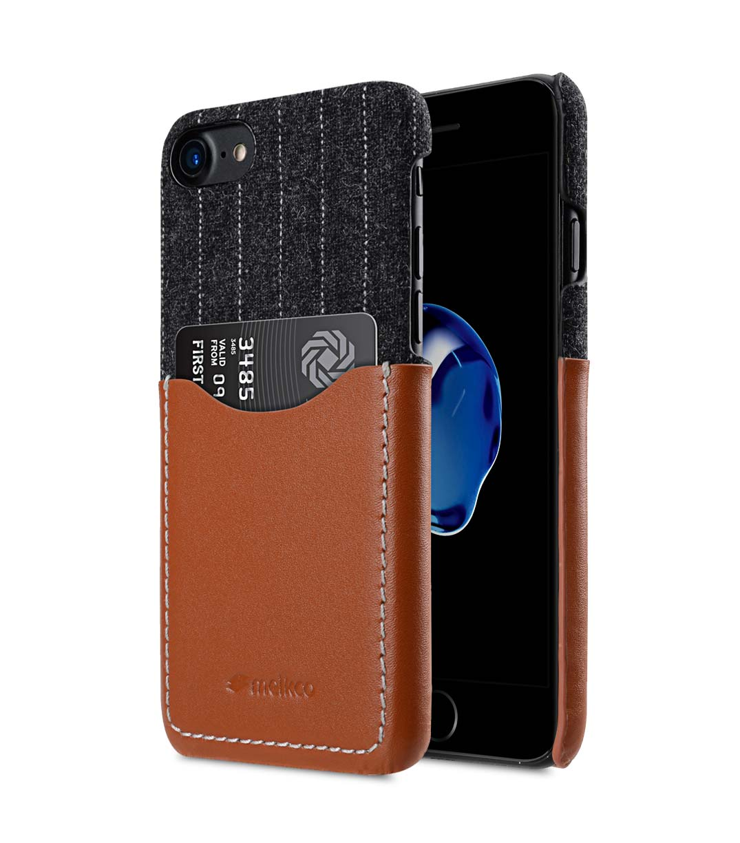 """Melkco Holmes Series Heri Genuine Leather Snap Cover with Card slot Case for Apple iPhone 7/ 8 (4.7"""") - (Brown)"""
