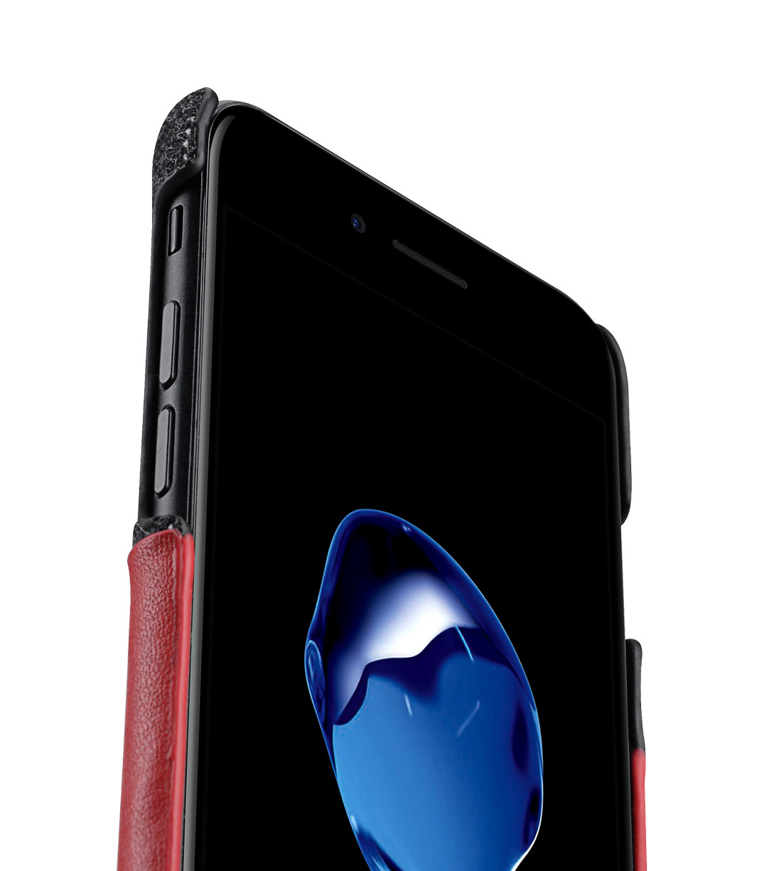 """Melkco Holmes Series Heri Genuine Leather Snap Cover with Card slot Case for Apple iPhone 7/ 8 (4.7"""") - (Red)"""