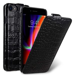 "Melkco Premium Leather Case for Apple iPhone 7 / 8 (4.7"") - Jacka Type (Black CR)"