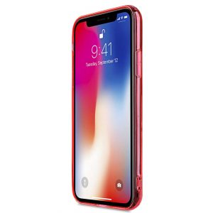 Melkco PolyUltima Case for Apple iPhone X - ( Transparent / Red )