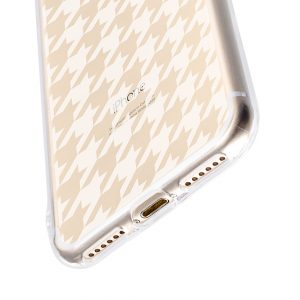 """Melkco Nation Series Houndstooth Check Pattern TPU Case for Apple iPhone 7 / 8 (4.7"""")- (Transprent)"""