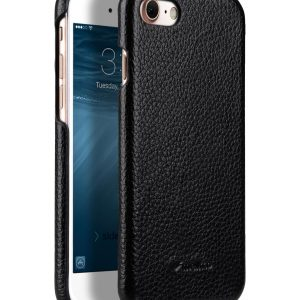 """Melkco Premium Leather Snap Cover for Apple iPhone 7 / 8 (4.7"""")- Black LC"""