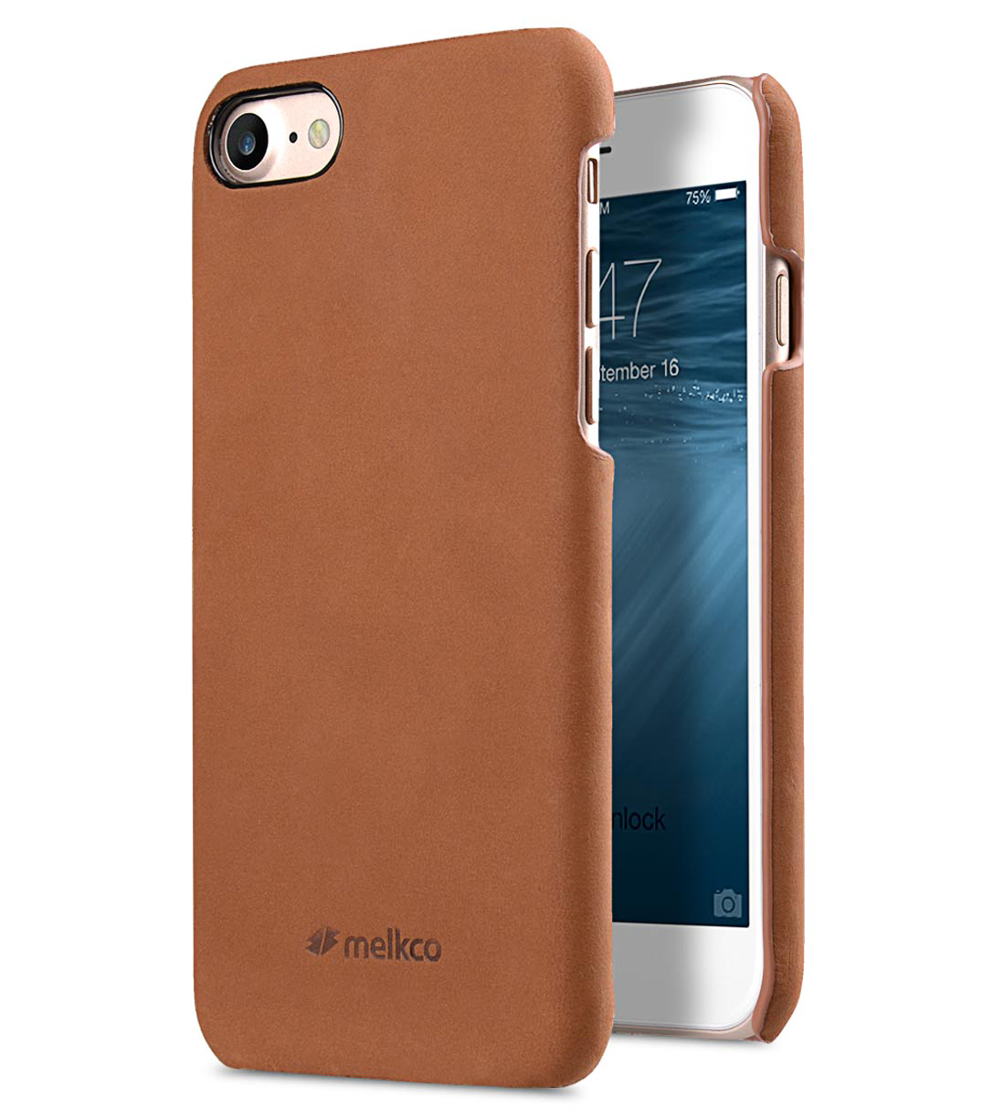 """Melkco Premium Leather Snap Cover for Apple iPhone 7 / 8 (4.7"""")- Classic Vintage Brown"""