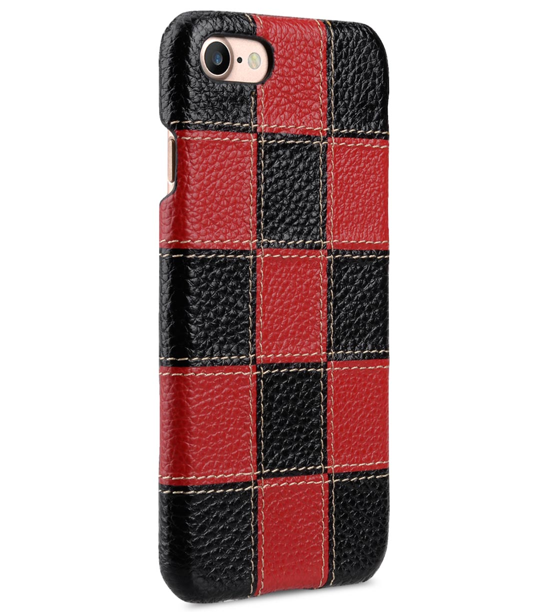 "Melkco Patchwork Series Premium Leather Snap Cover for Apple iPhone 7 / 8 (4.7"") - Black LC / Red LC"