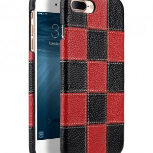 "Melkco Patchwork Series Premium Leather Snap Cover for Apple iPhone 7 / 8 Plus (5.5"") - Black LC / Red LC"