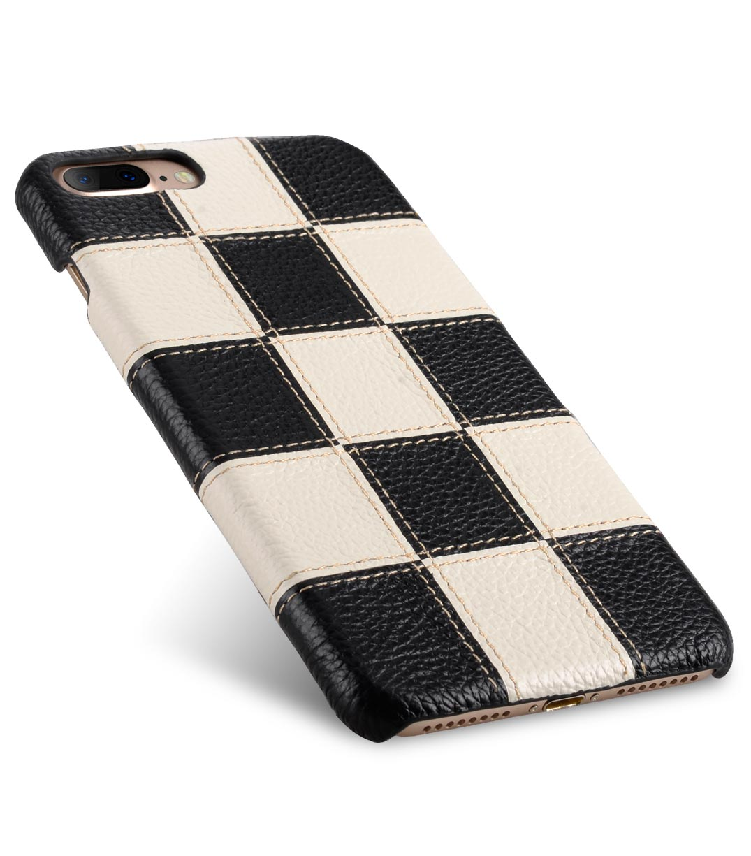 """Melkco Patchwork Series Premium Leather Snap Cover for Apple iPhone 7 / 8 Plus (5.5"""") - Black LC / White LC"""