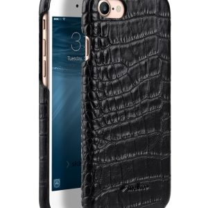 "Melkco Mini PU Leather Snap Cover for Apple iPhone 7 / 8 (4.7"") - (Black Crocodile Pattern PU)"