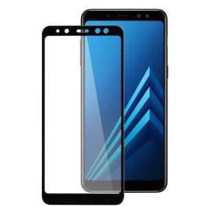 Melkco 3D Curvy 9H Tempered Glass Screen Protector for Samsung Galaxy A8 Plus (2018) - (Black)