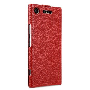 Melkco Premium Leather Case for Sony Xperia XZ1 - Jacka Type (Red LC)