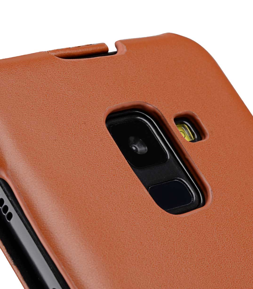 Melkco Premium Leather Case for Samsung Galaxy A8 Plus (2018) - Jacka Type (Brown CH)