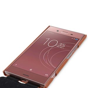 Melkco Premium Leather Case for Sony Xperia XZ1 - Jacka Type (Brown CH)
