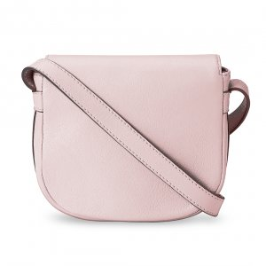 Melkco Blooming Series Mini Saddle Bag in Genuine Leather (Pink)