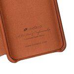 Melkco Elite Series Premium Leather Face Cover Back Slot Case for Samsung Galaxy S9 - (Tan)