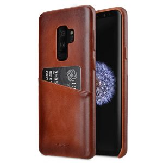 Melkco Elite Series Premium Leather Snap Back Pocket Case for Samsung Galaxy S9 Plus - (Tan)
