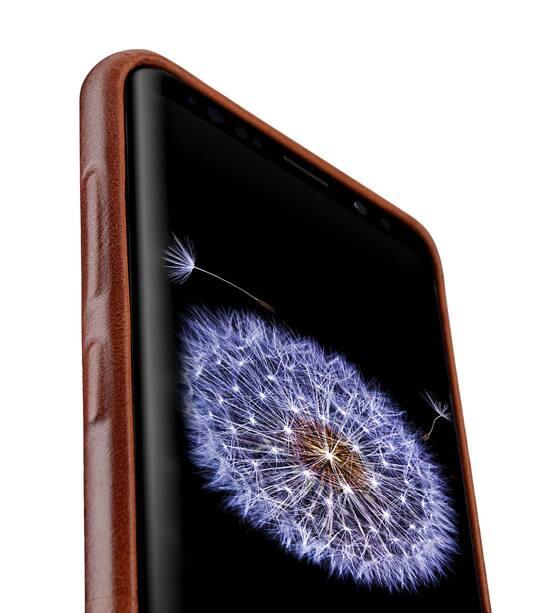 Melkco Elite Series Premium Leather Snap Back Pocket Case for Samsung Galaxy S9 - (Tan)