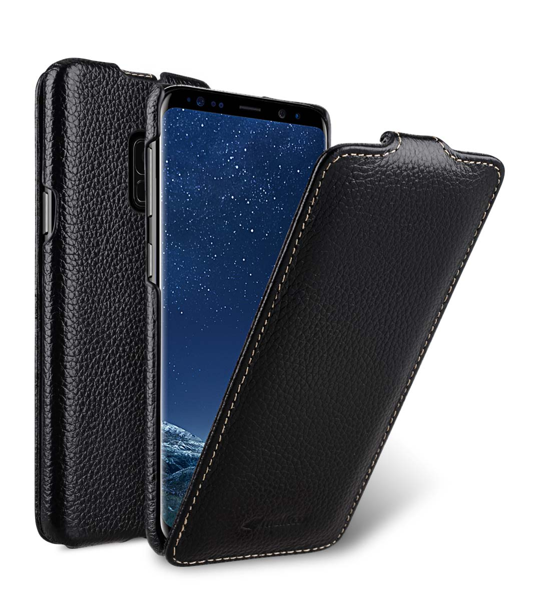 Melkco Premium Leather Case for Samsung Galaxy S9 - Jacka Type (Black LC)