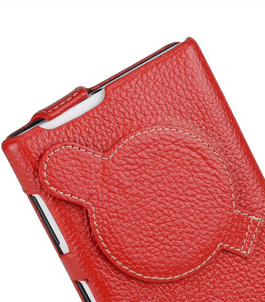 Melkco Premium Leather Case for Nokia Lumia 1020 - Jacka Type (Red LC)