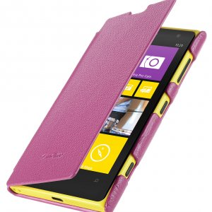 Melkco Premium Leather Case for Nokia Lumia 1020 - Face Cover Book Type (Ver.2) - (Purple LC)