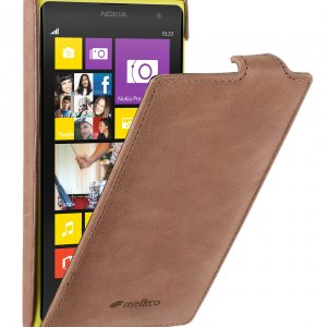 Melkco Premium Leather Case for Nokia Lumia 1020 - Jacka Type - (Classic Vintage Brown)