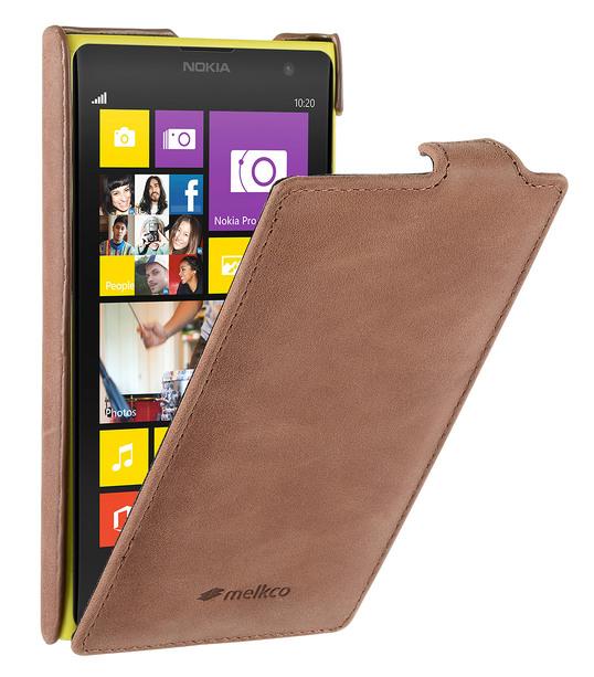 Melkco Premium Leather Case for Nokia Lumia 1020 - Jacka Type - (Classic Vintage Brown)