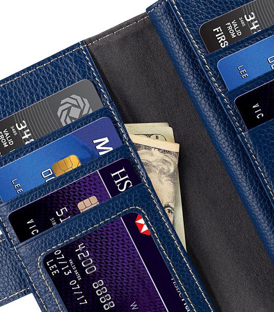 "Melkco Premium Leather Case for Apple iPhone 7 / 8 (4.7"") - Wallet Plus Book Type (Dark Blue LC)"