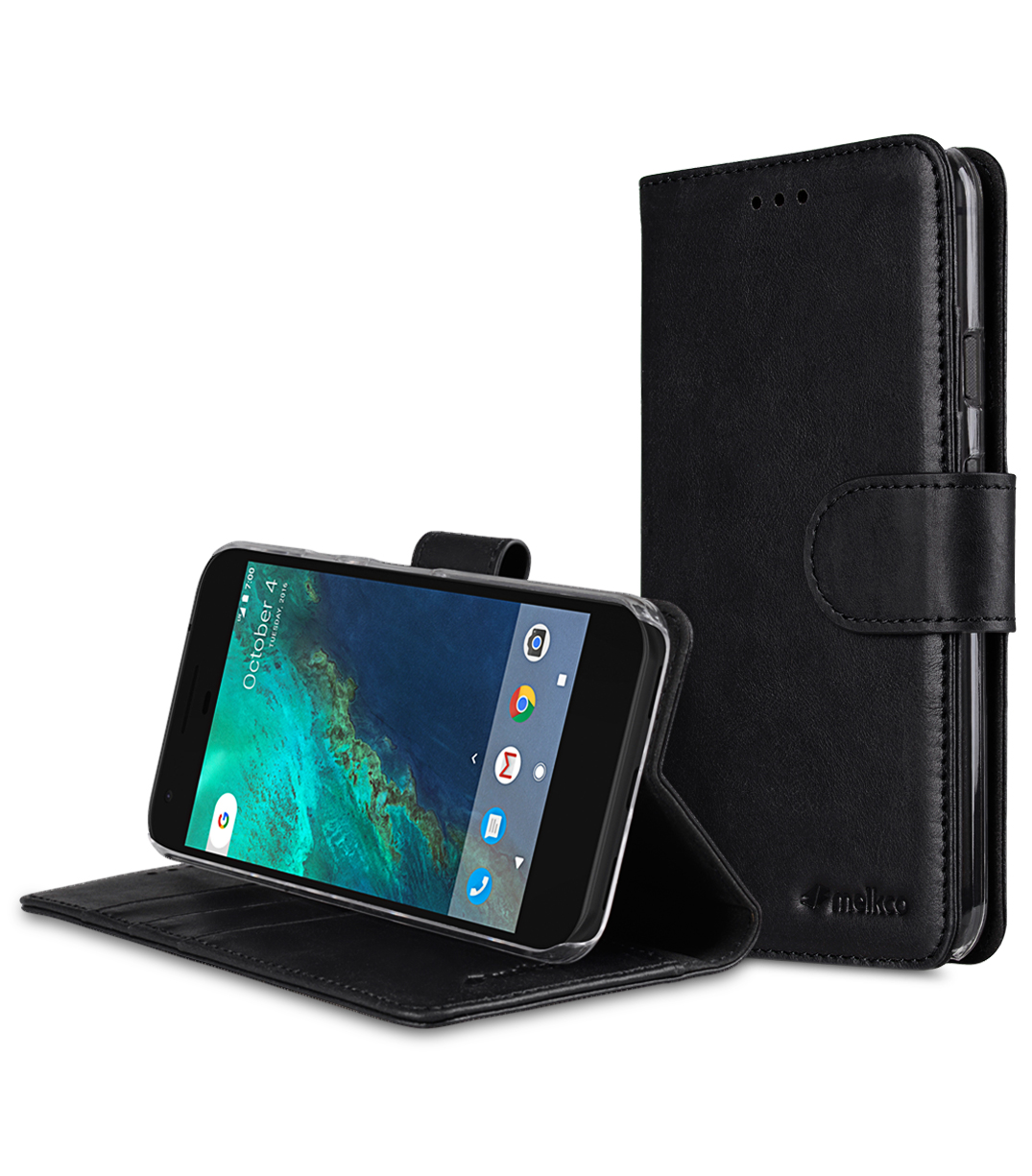 Premium Leather Case for Google Pixel - Wallet Book Type with Stand Function