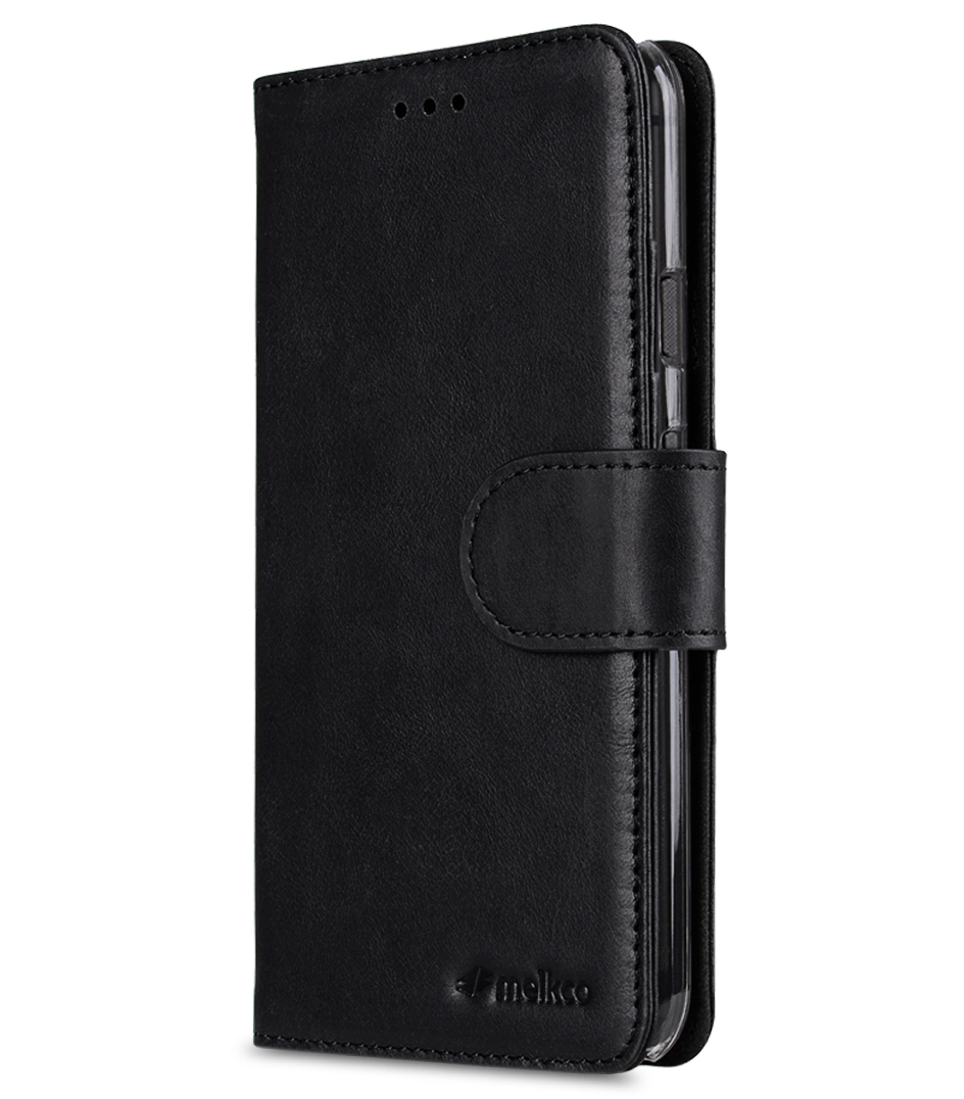 Melkco Premium Leather Case for Google Pixel - Wallet Book Type with Stand Function (Vintage Black)