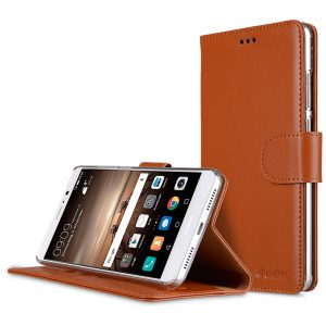 Premium Leather Case for Huawei Mate 9 - Wallet Book Type with Stand Function