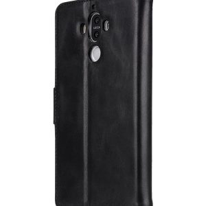 Melkco Premium Leather Case for Huawei Mate 9 - Wallet Book Type with Stand Function - (Vintage Black)