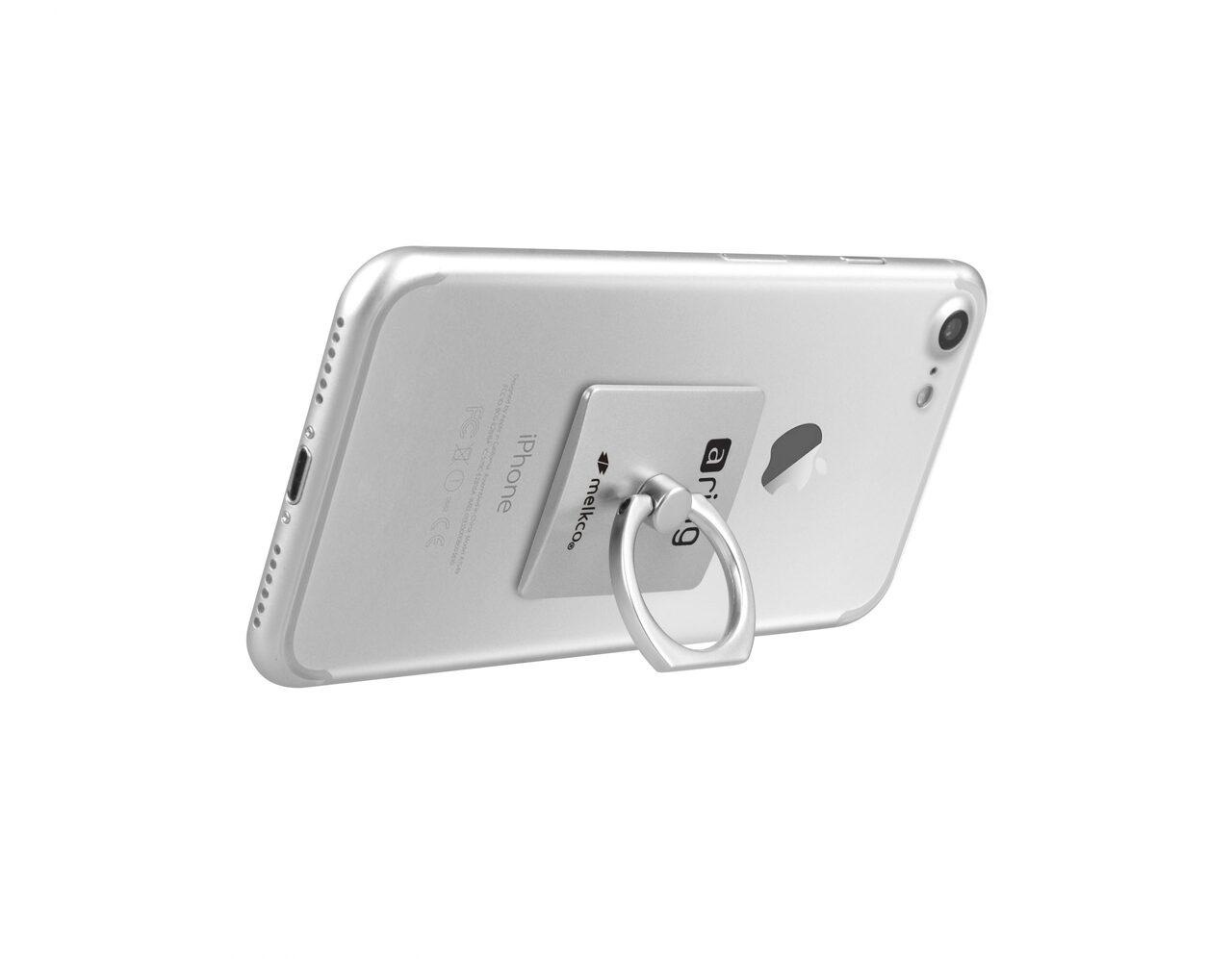 Melkco aring Universal Grip (Stand Smartphone Holder) - (Silver)