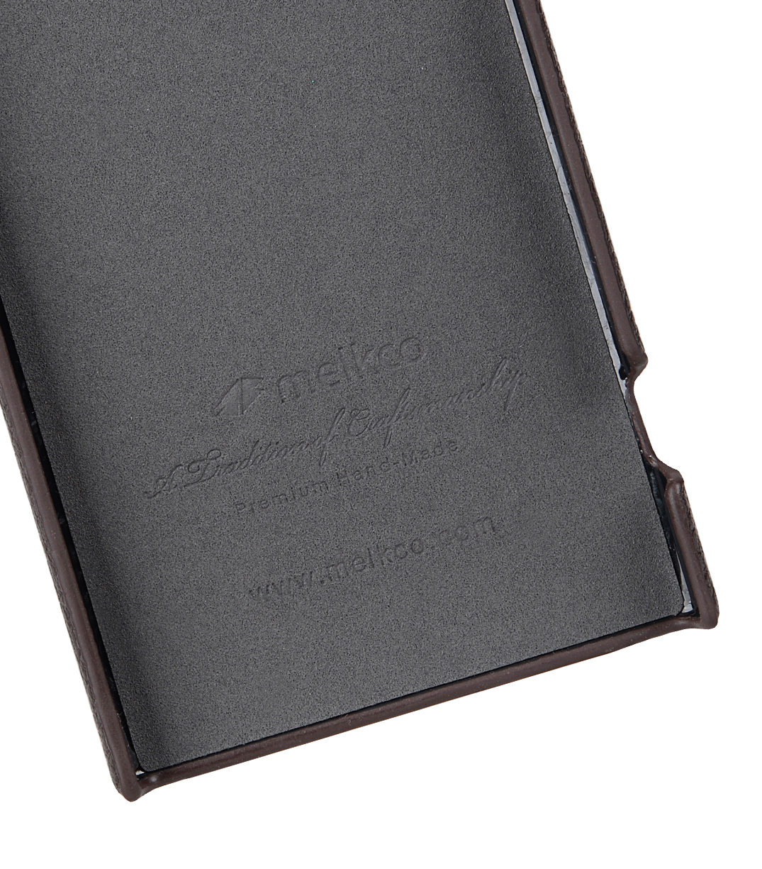 Melkco Back Snap Series Lai Chee Pattern Premium Leather Snap Cover Case for Sony Xperia XA1 Ultra - ( Brown LC )