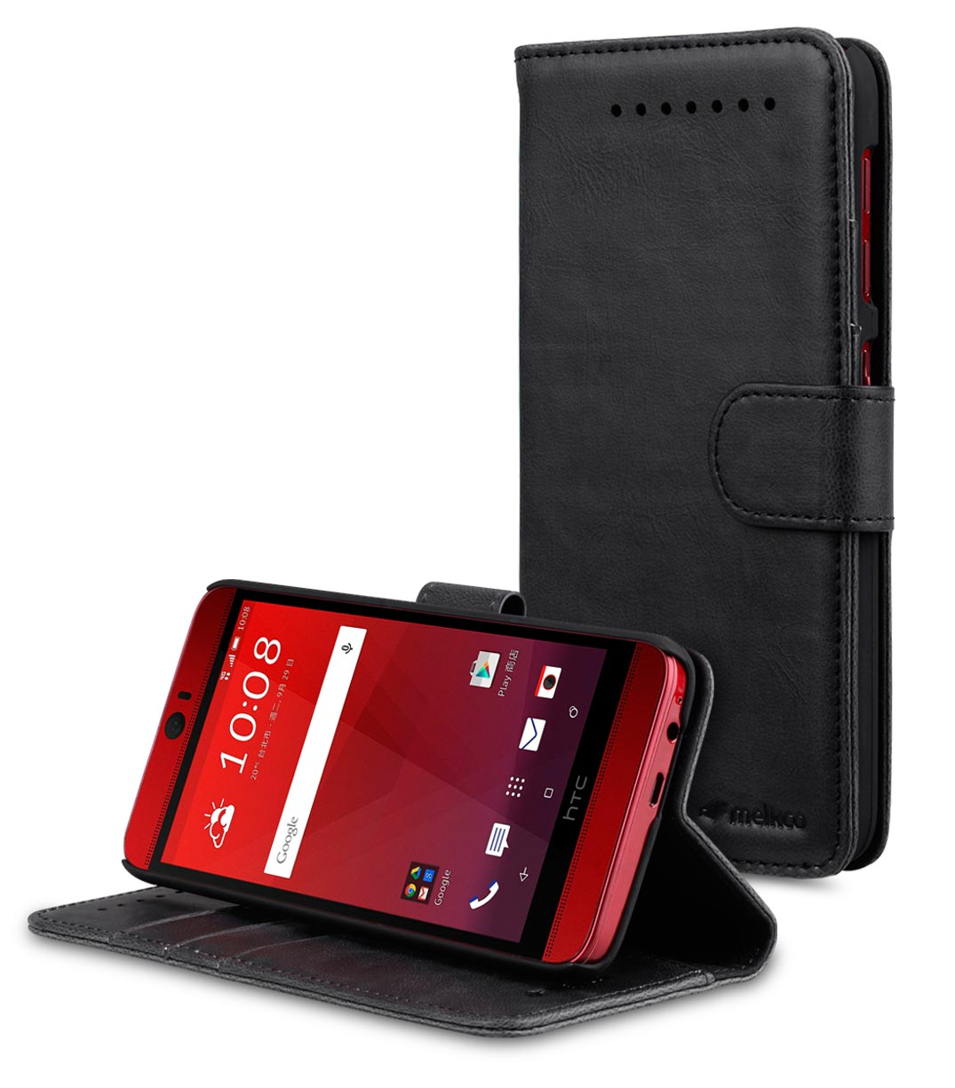 PU Leather Case for HTC Butterfly 3 - Wallet-Stand Book Type