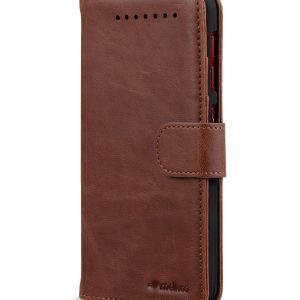 Melkco Mini PU Leather Case for HTC Butterfly 3 - Wallet-Stand Book Type (Brown CH)