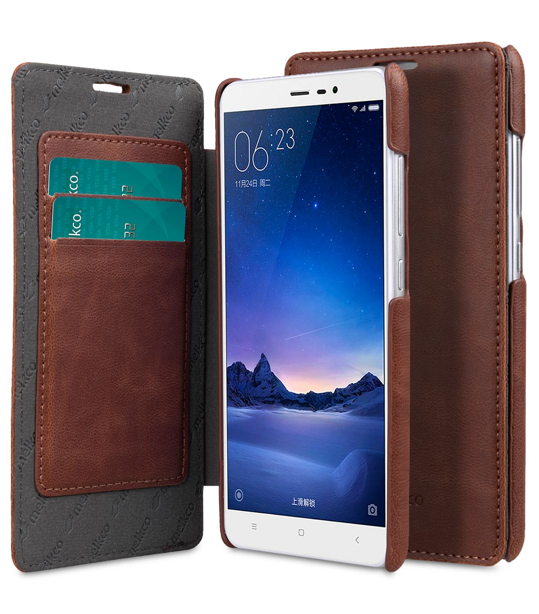PU Leather Case For Xiaomi Redmi Note 3 - Face Cover Book Type (Ver.3)