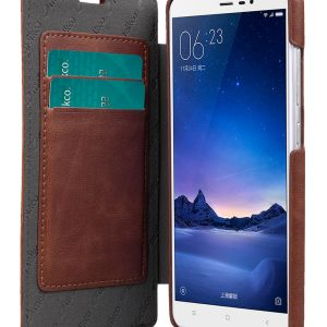 Melkco Mini PU Leather Case For Xiaomi Redmi Note 3 - Face Cover Book Type (Ver.3) (Classic Vintage Brown PU)