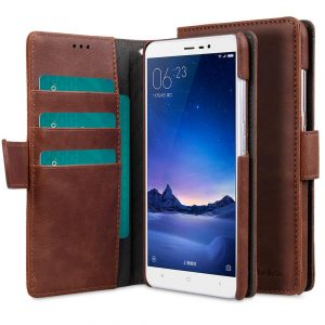 PU Leather Case For Xiaomi Redmi Note 3 - Wallet Book Type