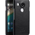 Premium Genuine Leather Snap Cover Case For LG Nexus 5X