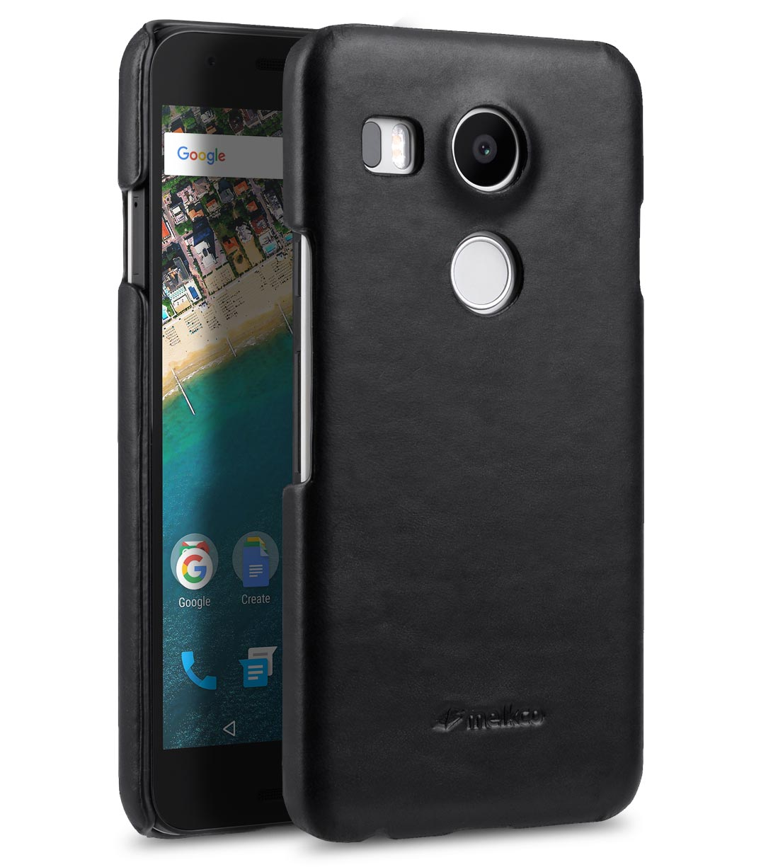 Premium Genuine Leather Snap Cover Case For LG Nexus 5X