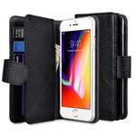 "Melkco Premium Leather Case for Apple iPhone 7 /8(4.7"") - Wallet Plus Book Type (Black LC)"