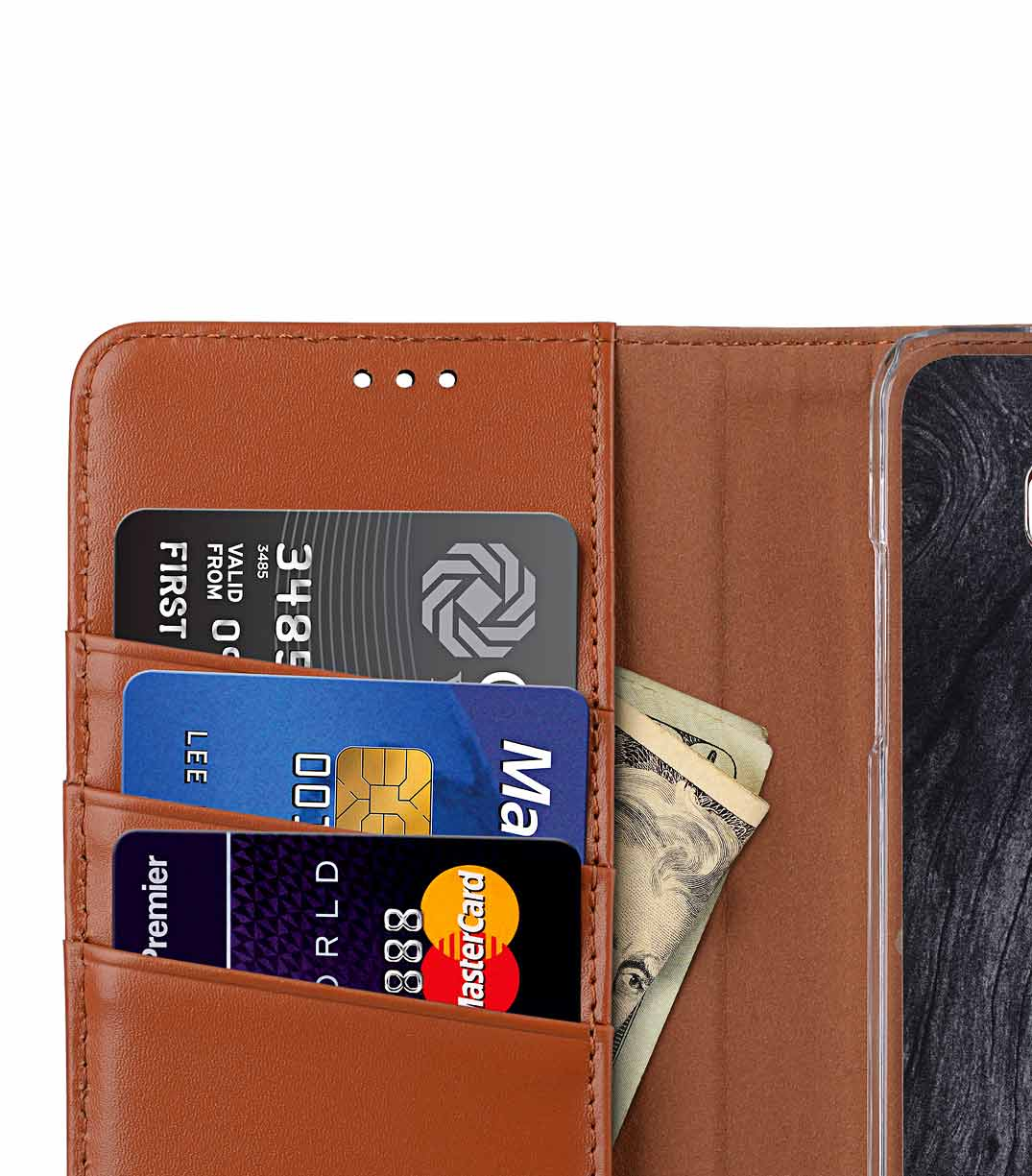 Melkco Premium Leather Case for LG V30 - Wallet Book Clear Type Stand (Brown CH)