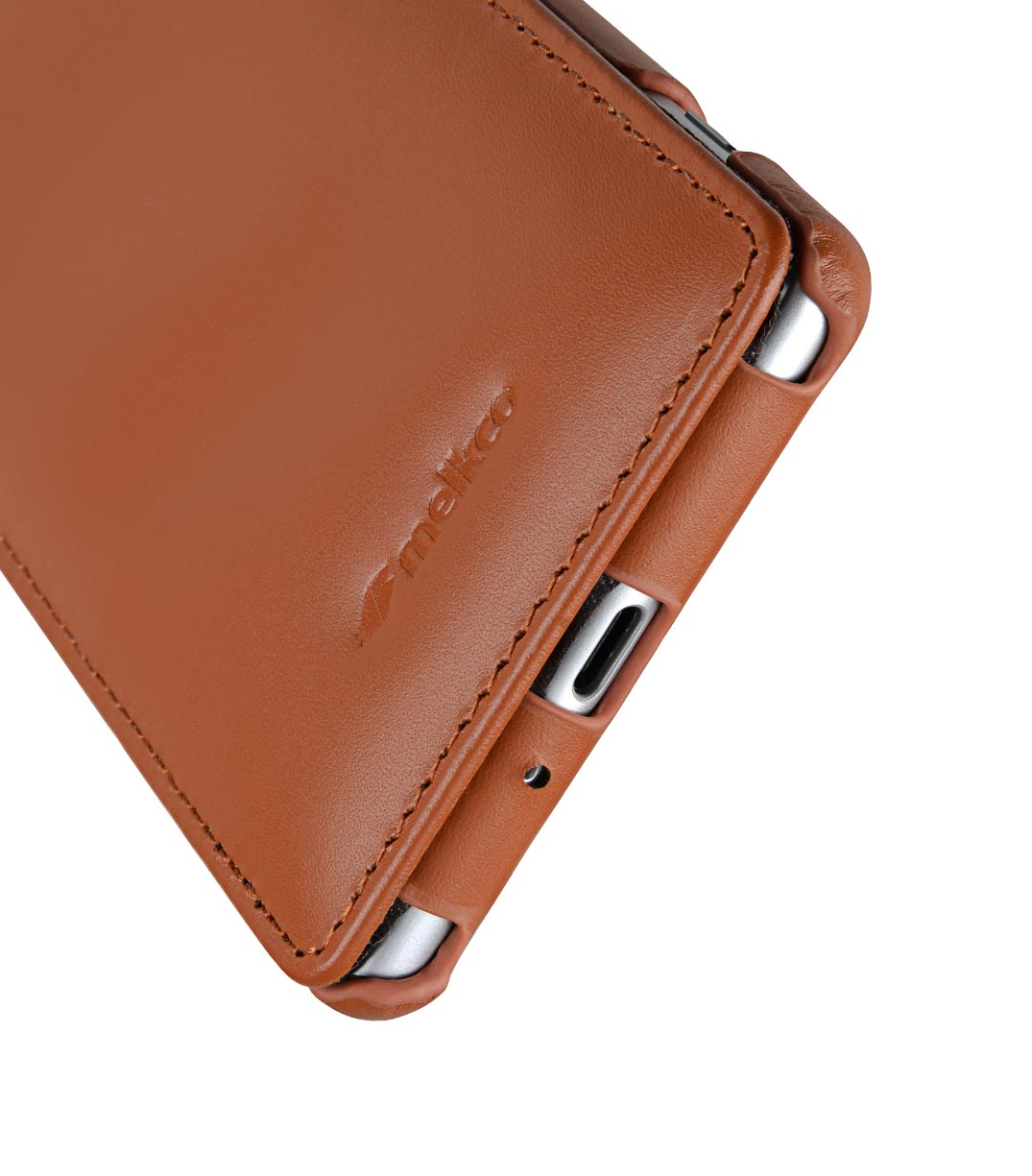 Melkco Premium Leather Case for Sony Xperia XZ2 - Jacka Type (Brown CH)
