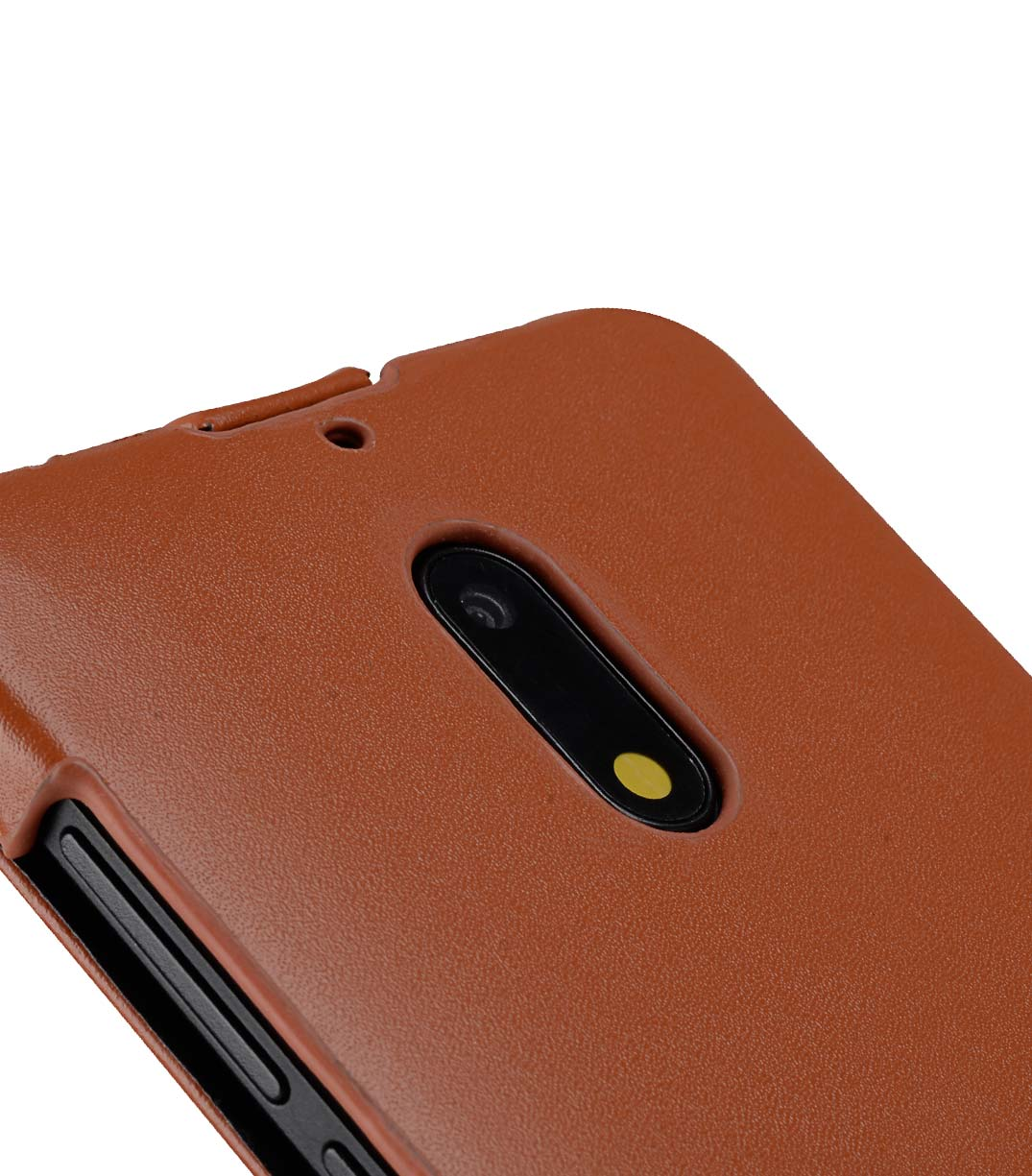 Premium Leather Case for Nokia 6 - Jacka Type (Brown CH)