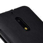 Premium Leather Case for Nokia 6 - Jacka Type (Vintage Black)