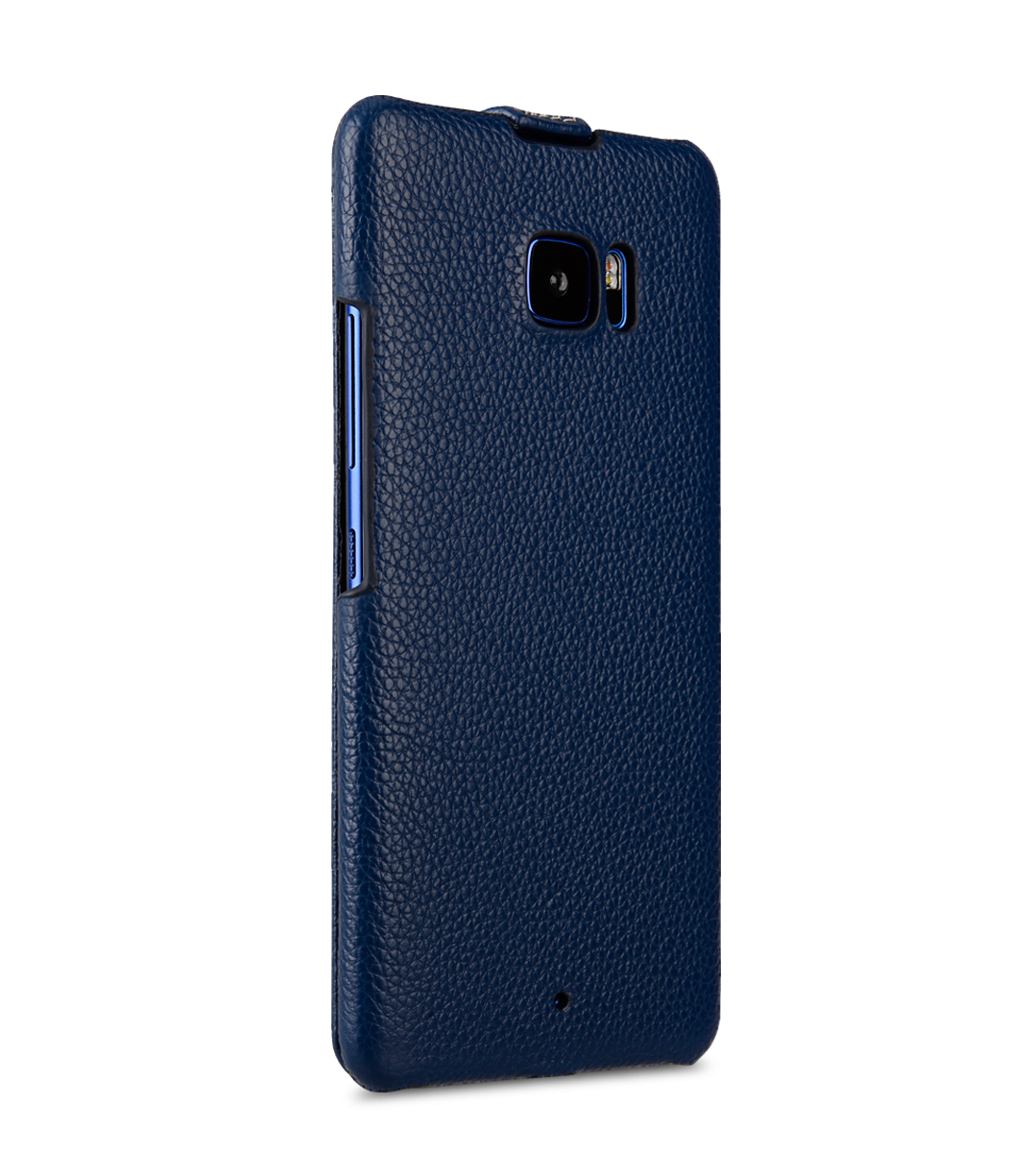 Melkco Premium Leather Case for HTC U Ultra - Jacka Type ( Dark Blue LC )
